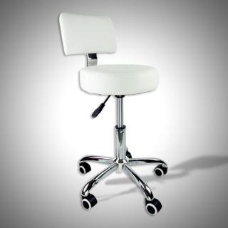 White Stool Salon Spa Tattoo Equipment Medical Chair Facial Beauty