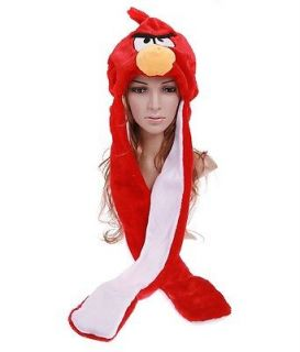 claues Red Angry Birds Cartoon Animal Plush Warm Hat Earmuff