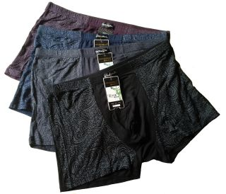 NWT 4pcs Mens Underwears Soft Bamboo Fiber Boxer Briefs Sz 2XL 33 46