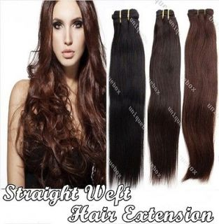 Brazilian Straight 14 26 Remy 100% Human Hair Weaving Weft Extension