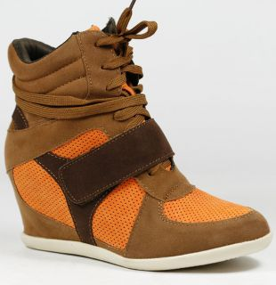 HIGH TOP FASHION SNEAKERS WEDGE ANKLE BOOT BOOTIE REFRESH DAKOTA 02
