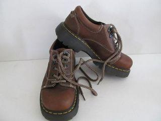 Dr Doc Martens Brown 8A47 Shoes sz 6 Women 7 Lace Boot Leather Oxford