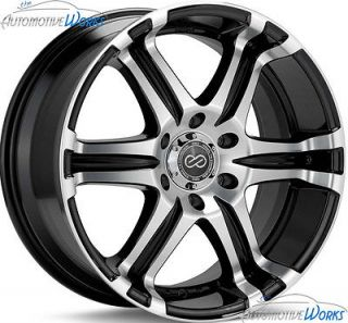 20x9.5 Enkei ETS 6x132 +35mm Black Machined Rims Wheels Inch 20