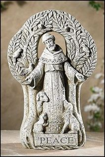 Animals Saint St Francis Peace Tree Figurine Garden Patio Home Statue
