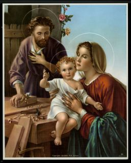 10 Religious Art HOLY FAMILY Print Picture