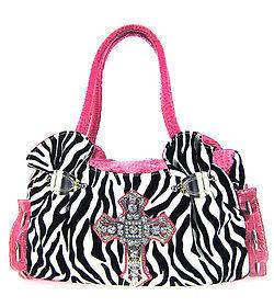 pink zebra purse in Handbags & Purses