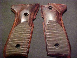 Beretta 92F 92FS Beautiful Fine Rosewood Auto Pistol Grips Fancy