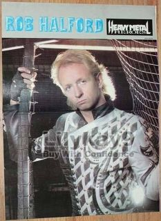 ROB HALFORD PIN UP Judas Priest POSTER Leather LK9