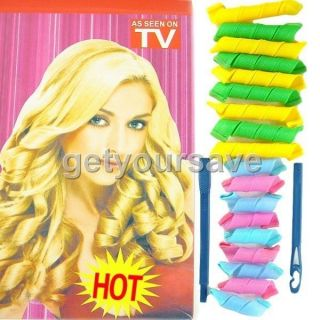 TV HOT Hair Curlers Curlformers Spiral Ringlets Perm Hairband Leverage