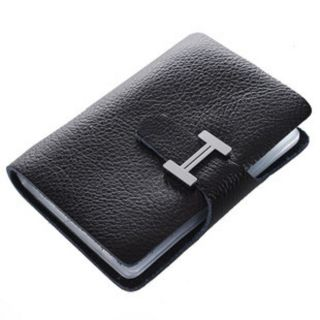 100% Leather Lady Credit Card Holder Women Business Case Purse Wallet
