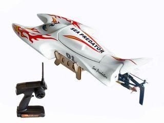Sea Predator Fiberglass Electric Brushless RC Racing Speed Boat RTR