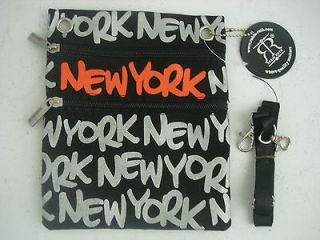 ROBIN RUTH BLACK SHOULDER BAG   CROSS BODY PURSE NEW YORK ~NEW