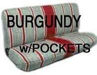 Full Sz Truck Bench Seat Cover Saddle Blanket, BURGUNDY