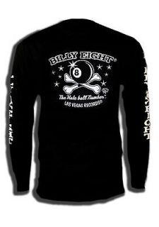 Rockabilly V8 Billy Eight Ford Harley Lucky 13 Shirt Tattoo Long