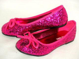 Glitter Sparkle Girls Kids Ballet Flat*Casual Pageant Dress Shoes