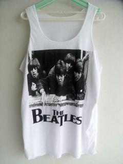 The Beatles POP Rock Band Sleeveless Vest Cotton Tank Top Singlet Men