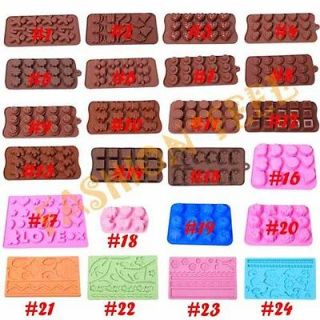Styles Silicone Mold Chocolate Muffin Jelly Ice Cake Baking DIY Tools