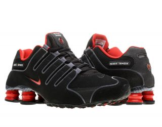 Nike Shox NZ EU Black/Sport Red Grey Mens Running Shoes 325201 060