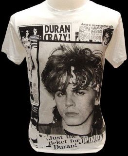 DURAN DURAN 80s Pop Rock Retro VTG Tour T Shirt M