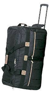 36 Travel Deluxe Retractable Rolling Duffel Bag Luggage Suitcase Tote