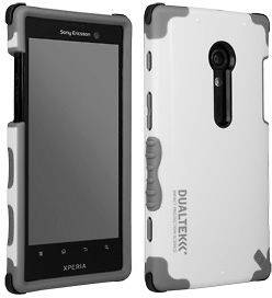DUALTEK WHITE ANTI SHOCK CASE FOR AT&T SONY XPERIA ION LT28i PHONE