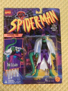 TOY BIZ MARVEL SPIDER MAN ANIMATED SERIES 2 THE LIZARD ACTION FIGURE