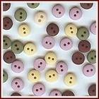 TINY ROUND VICTORIAN Flatback Buttons Sewing 2 hole Scrapbooking