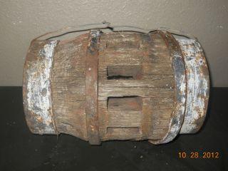 Distressed Wooden Wagon Wheel Hub Spoke Part West Table Light