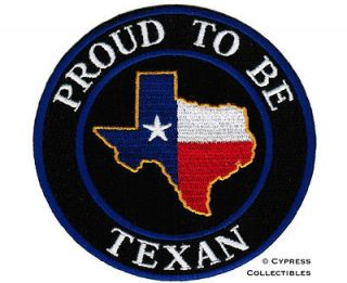 BE TEXAN iron on embroidered BIKER PATCH TEXAS STATE FLAG EMBLEM LOGO