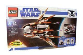 Lego Star Wars The Clone Wars Count Dookus Solar Sailer 7752