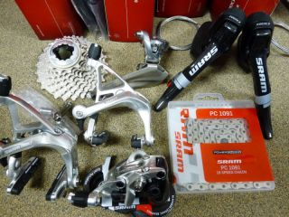New Sram Red Road Bike group set 6 piece Carbon shifter