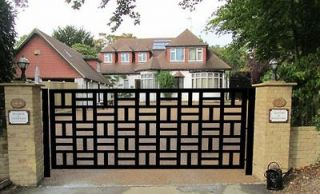 DRIVEWAY GATE ON SALE METAL ART GARDEN WROUGHT IRON DESIGNER 10 FT