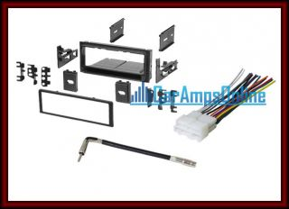 CAR TRUCK STEREO INSTALL KIT DASH TRIM W/ ANTENNA ADAPTOR & WIRING