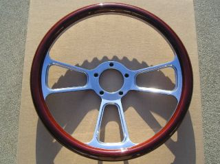 REAL WOOD HALF WRAP BILLET STEERING WHEEL CAR TRUCK BOAT GOLF CART