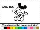 Baby Boy Son Family Sticker Vinyl Decal Car Stick People Mickey Ear