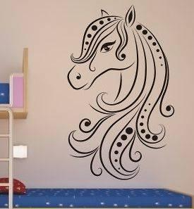 horse wall sticker decal art vinyl hest häst cheval caballo big