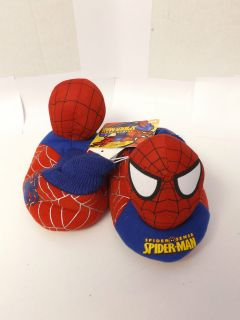NWT Boys Kids Marvel Comics SPIDERMAN Sock Top Toddlers Slippers Shoe