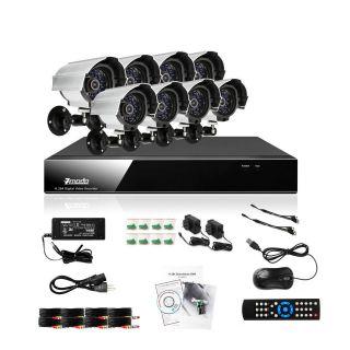 Zmodo 8 CH Channel DVR 8 Outdoor CCTV Home Security Camera System NO