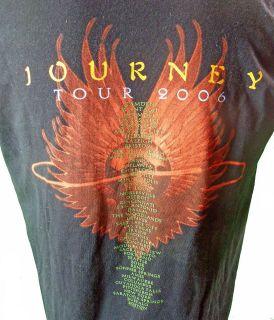 Journey 2006 Concert Tour T Shirt L Logo