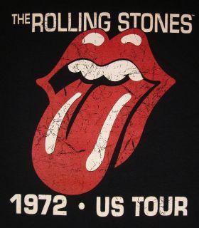 Rolling Stones 72 US Tour Vintage Logo T shirt New SzL
