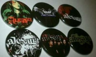 6x Alesana Buttons band Badges shirt pins pinbacks NEW