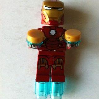 LEGO IRON MAN minifig 6869 Quinjet Aerial Battle Super Heroes Avengers