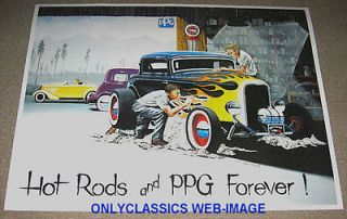 STREET HOT ROD POSTER 1932 FORD BODY SHOP PAINT & DETAIL POSTER