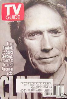 TV Guide 8/5/00 Clint Eastwood Salute/Martha Stewart/Survivor/Adrienne
