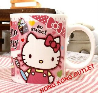 Hello Kitty Ice Cream Ceramic Cup Mug Glass Original Japan Sanrio