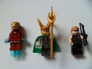 Newly listed LEGO 3 minifigures Iron Man, Loki and Hawkeye ( 6867 )