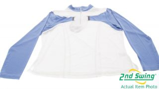 NEW Jamie Sadock Womens Long Sleeve 1/4 Zip Golf Shirt Polo Large