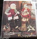 Doll Santa Claus Mr Mrs cloth doll pattern 26 ELF helper Faye Wine