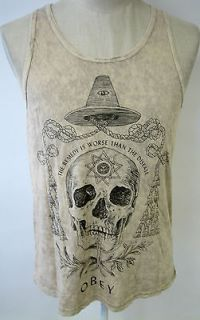 OBEY CLOTHING ALCHEMIST MENS TANK TOP SHIRT SOUTH OF THE BORDER ART