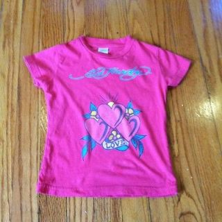 ED HARDY BY CHRISTIAN AUDIGIER TODDLER GIRLS LOVE T SHIRT 4